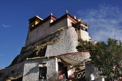 雍布拉康宫殿在西藏 库存照片