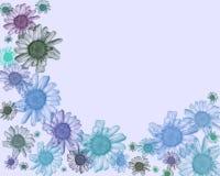 雏菊框架背景。 免版税库存照片