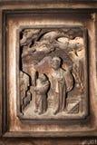 雕刻中国传统木头 免版税库存图片