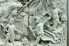 雕刻中国寓言石头 免版税图库摄影