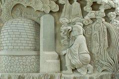 雕刻中国石寺庙 免版税图库摄影
