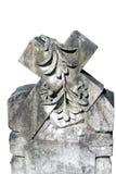 雕刻交叉石头 免版税图库摄影