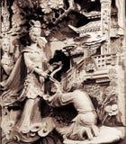 雕刻产生帮助stong寺庙 免版税库存图片