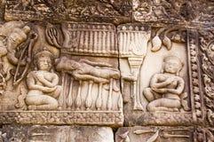 雕刻位于的钉子的河床 库存图片