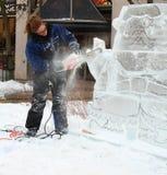 雕刻冰 免版税库存照片