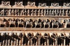 雕刻印度石头 库存图片