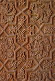 雕刻印度石寺庙墙壁 免版税库存图片