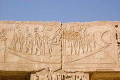 雕刻埃及的古老三桅帆小船 免版税库存图片