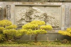 雕刻墙壁 库存照片