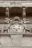 1193雕刻大教堂demetrius纪念碑俄国st石唯一vladimir白色的1197年结构 结构上大厦详细资料屋顶 图库摄影