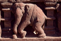 雕刻大象 库存照片
