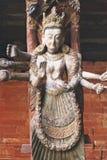 雕刻尼泊尔 图库摄影