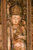 雕刻尼泊尔 免版税图库摄影