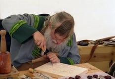 雕刻师木头 免版税库存照片