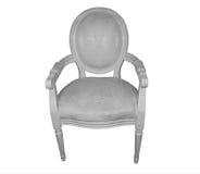 雕刻师椅子法国样式白色 免版税库存图片
