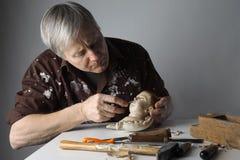 雕刻师 库存图片