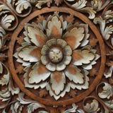 雕刻木的模式 库存图片