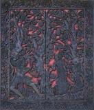 雕刻木头的巴厘岛 免版税库存图片