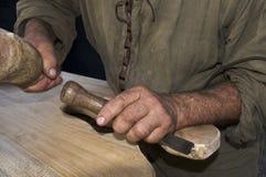 雕刻木头 库存图片