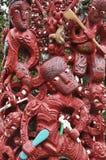雕刻毛利人大量的海湾传统 库存照片
