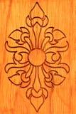 雕刻泰国木头 免版税库存照片