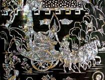 雕刻泰国的设计 免版税库存图片