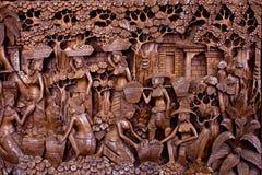 雕刻泰国 免版税库存照片