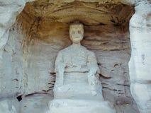 雕刻洞穴石yungang 图库摄影