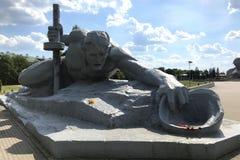 雕刻的构成'干渴'在布雷斯特堡垒,白俄罗斯 库存图片