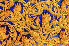 雕刻皇家干涉皇家驳船国家博物馆,曼谷,泰国 库存图片