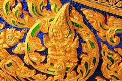 雕刻皇家干涉皇家驳船国家博物馆,曼谷,泰国 免版税库存照片
