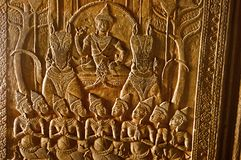 雕刻神 angkor柬埔寨收割siem wat 在世界162的最大的宗教纪念碑 6公顷 库存照片