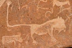 雕刻纳米比亚史前岩石 库存图片