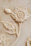 雕刻细致的花 库存图片