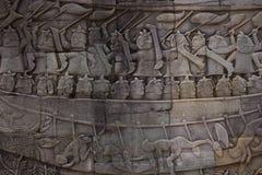 雕刻细节的华丽墙壁 免版税库存照片