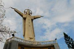 雕刻耶稣阁下石头 库存图片