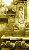 雕刻详细资料石头的巴厘语 免版税库存图片