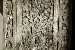 雕刻详细资料老木头 免版税图库摄影
