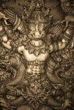 雕刻银 免版税图库摄影