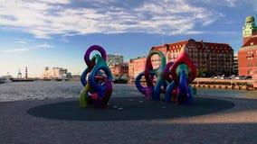 雕刻鬼自已容器,马尔摩,瑞典 库存图片