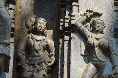 雕刻, Kopeshwar寺庙, Khidrapur, kolhapur,马哈拉施特拉,印度 库存照片