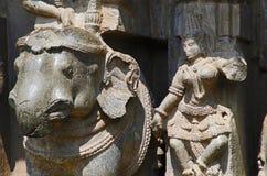 雕刻, Kopeshwar寺庙, Khidrapur, kolhapur,马哈拉施特拉,印度 免版税图库摄影