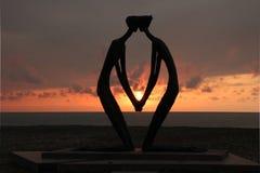 雕塑'第一爱人' 库存图片