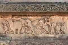雕塑一只老虎,亨比的陈列狩猎由国王` s人的 图库摄影