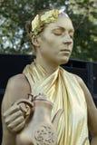 活雕塑古老罗马风格表现 免版税库存照片