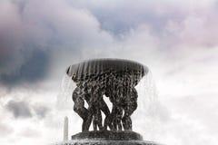 雕塑和喷泉古斯塔夫Vigeland 库存照片
