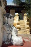 雕塑和步 免版税库存图片