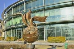 雕塑在一个公园在基辅 免版税库存图片