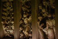 雕塑在一个宽容大教堂里 免版税库存图片