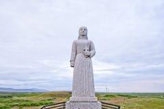 雕塑在冰岛 免版税库存图片
